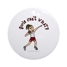 Light Red Shot Put Ornament (Round)