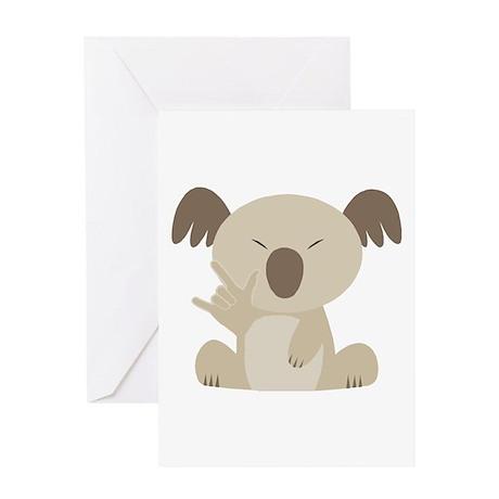 I Love You Koala Greeting Card