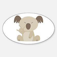 I Love You Koala Oval Decal