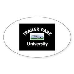 Trailer Park University Oval Decal