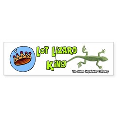 Lot Lizard King Bumper Bumper Sticker