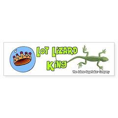 Lot Lizard King Bumper Bumper Sticker
