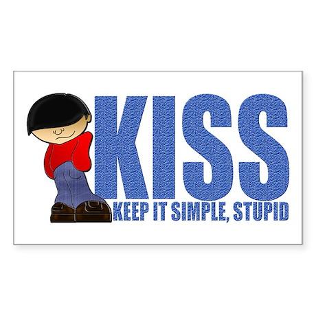 KISS-Keep It Simple, Stupid Sticker (Rectangle 50