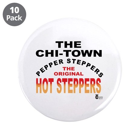 "The Pepper Steppers 3.5"" Button (10 pack)"