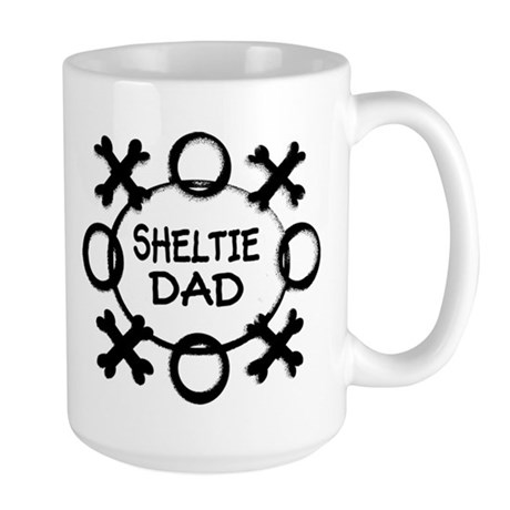 Hugs and Kisses Sheltie Large Mug