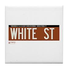 White Street in NY Tile Coaster