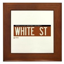 White Street in NY Framed Tile