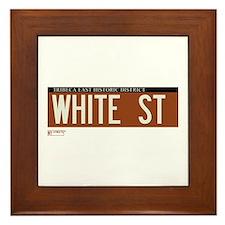 White Street in NY Framed Tile
