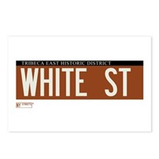 White Street in NY Postcards (Package of 8)