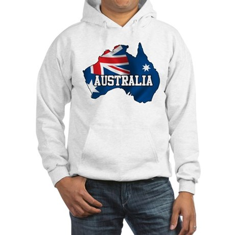 Map Of Australia Hooded Sweatshirt