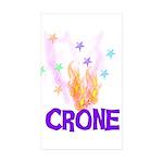 Crone Rectangle Sticker 50 pk)
