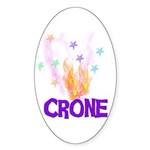 Crone Oval Sticker (50 pk)