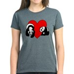 Panda Bear Love Women's Dark T-Shirt