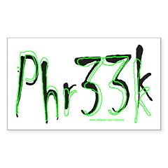 FREAK/PHR33K Rectangle Sticker 50 pk)