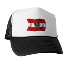 Wavy Austria Flag Trucker Hat