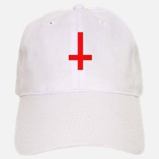 Red Inverted Cross Baseball Baseball Cap