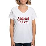 Addicted To Love Women's V-Neck T-Shirt