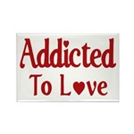 Addicted To Love Rectangle Magnet (100 pack)