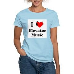 I HEART ELEVATOR MUSIC Women's Light T-Shirt