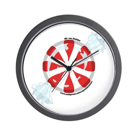 Peppermint Candy Picture 2 Wall Clock