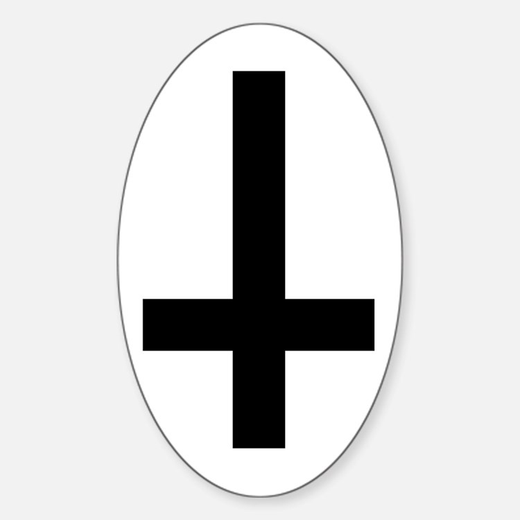 Inverted Cross Oval Decal