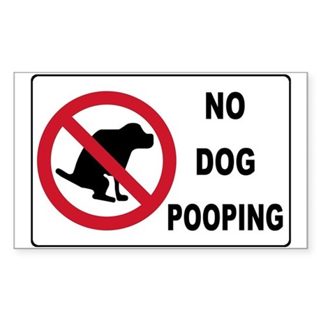 NO POOPING Rectangle Sticker