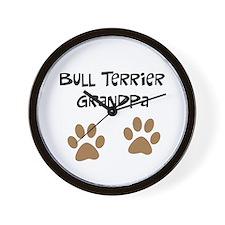 Big Paws Bull terrier Grandpa Wall Clock