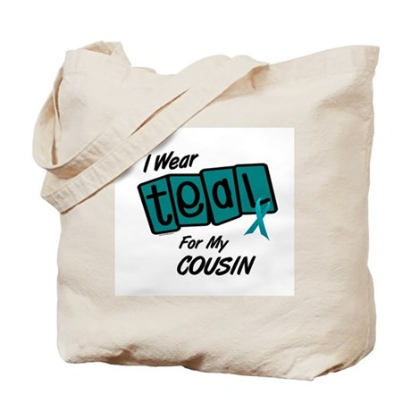 I Wear Teal For My Cousin 8.2 Tote Bag