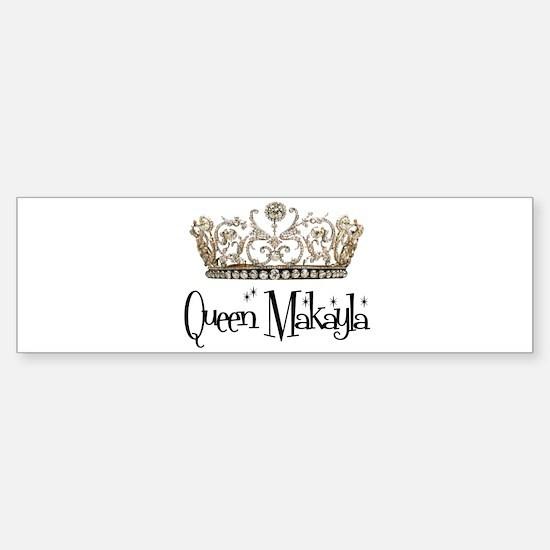Queen Makayla Bumper Car Car Sticker