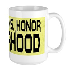 Guts Brains Honor Fatherhood Large Mug