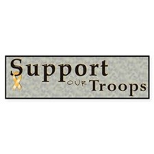 Support our troops Bumper Bumper Sticker