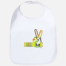 Cute Hand of peace Bib