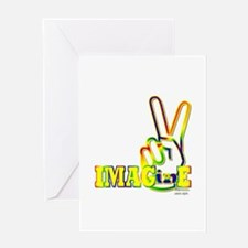 Funny Hand of peace Greeting Card