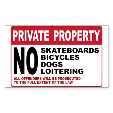 PRIVATE PROPERTY Rectangle Sticker