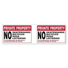 PRIVATE PROPERTY Bumper Bumper Sticker