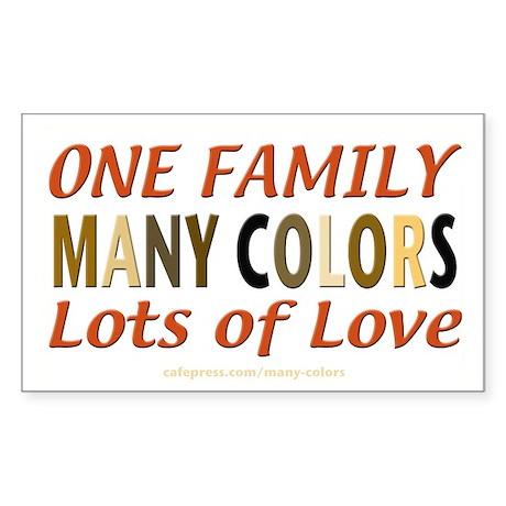 Many Colors Plain Rectangle Sticker