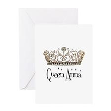 Queen Anna Greeting Card