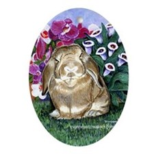 Bunny Rabbit Oval Ornament