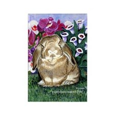 Bunny Rabbit Rectangle Magnet