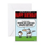Star trek birthday Greeting Cards