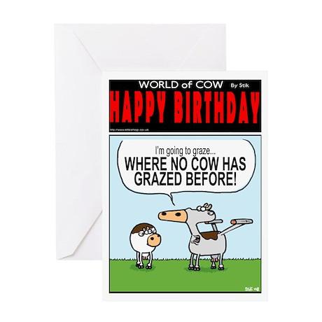 Graze where no cow....Greeting Card
