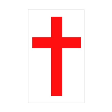 Cross Rectangle Sticker
