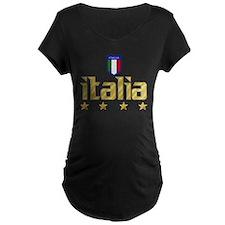 Italia 4 star Italian Soccer T-Shirt