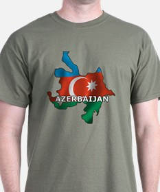 Map Of Azerbaijan T-Shirt