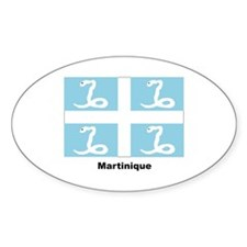 Martinique Flag Oval Decal