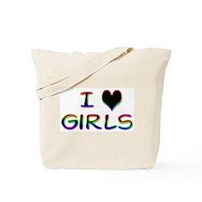 I Heart Girls Black Tote Bag