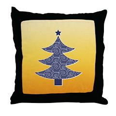 Blue & Orange Seasonal Throw Pillow