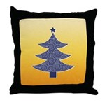 Blue & Orange Seasonal Throw Pillow