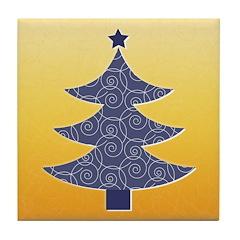 Blue & Orange Seasonal Tile Drink Coaster