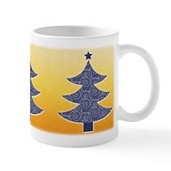 Blue & Orange Seasonal Ceramic Coffee Mug